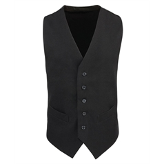 Premier Men's 5 Button Lined Polyester Waistcoat