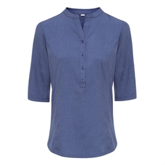 Premiert Women's Verbena 'Linen Look' Button-Up Beauty Tunic