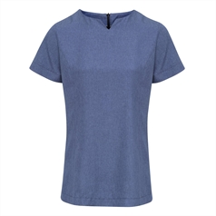Premier Women's Viola 'Linen look' Cut Neck Beauty Tunic