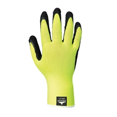 Portwest Latex Foam Hi Vis Grip Glove