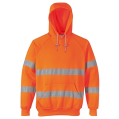 Portwest Men's High Visibility Rail Specification Hooded Sweatshirt