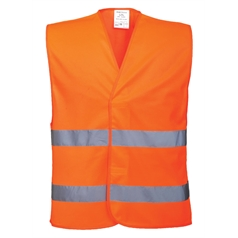 Portwest High Visibility Two Band Safety Vest