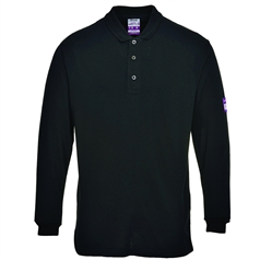 Portwest ModaFlame Flame Resistant Anti Static Long Sleeve Polo Shirt