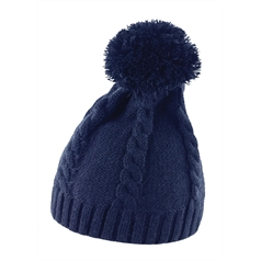 Result Winter Essentials Adult's Cable Knit Pom Pom Beanie Hat