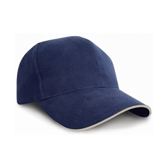 Result Adult's Pro-style Heavy Cotton Sandwich Peak Baseball Cap