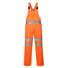 Portwest High Visibility Rail Industry Contrast Bib and Brace
