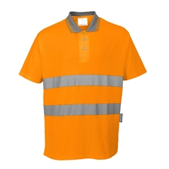 Portwest Cotton Comfort Breathable High Visibility Polo Shirt