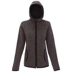 TriDri Women's Melange Knit Fleece Hooded Sweatshirt